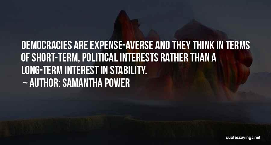 Expense Quotes By Samantha Power