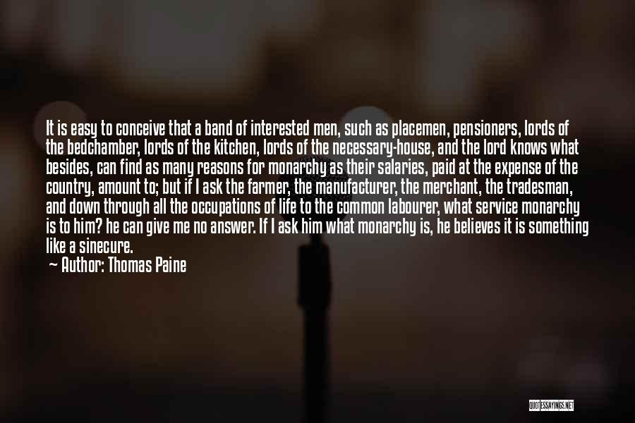 Expense Quotes By Thomas Paine