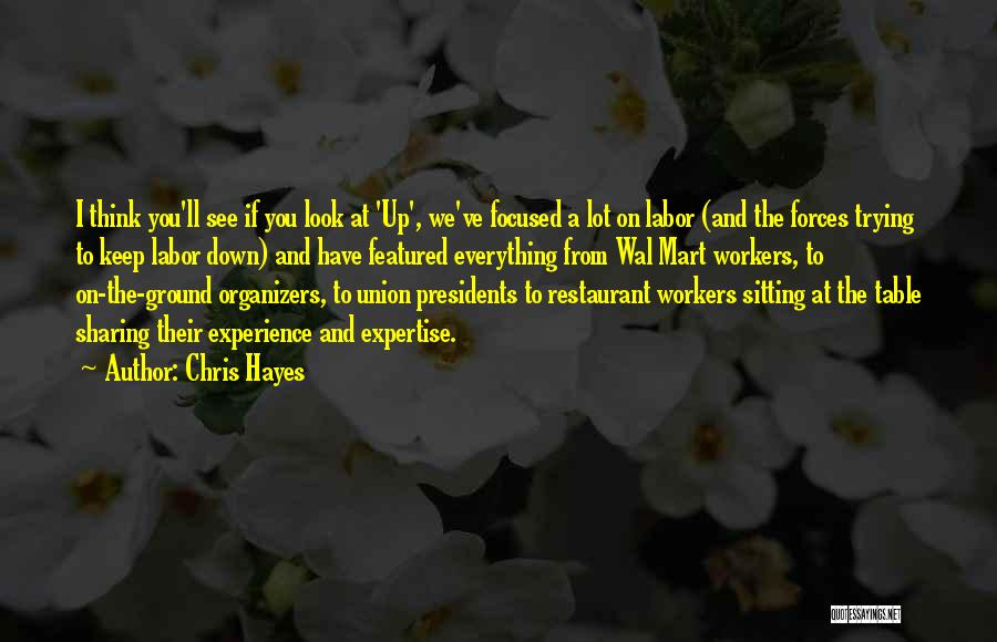 Experience Expertise Quotes By Chris Hayes