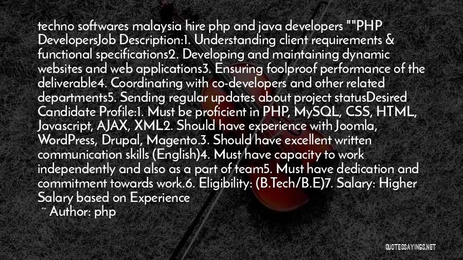 Experience Expertise Quotes By Php