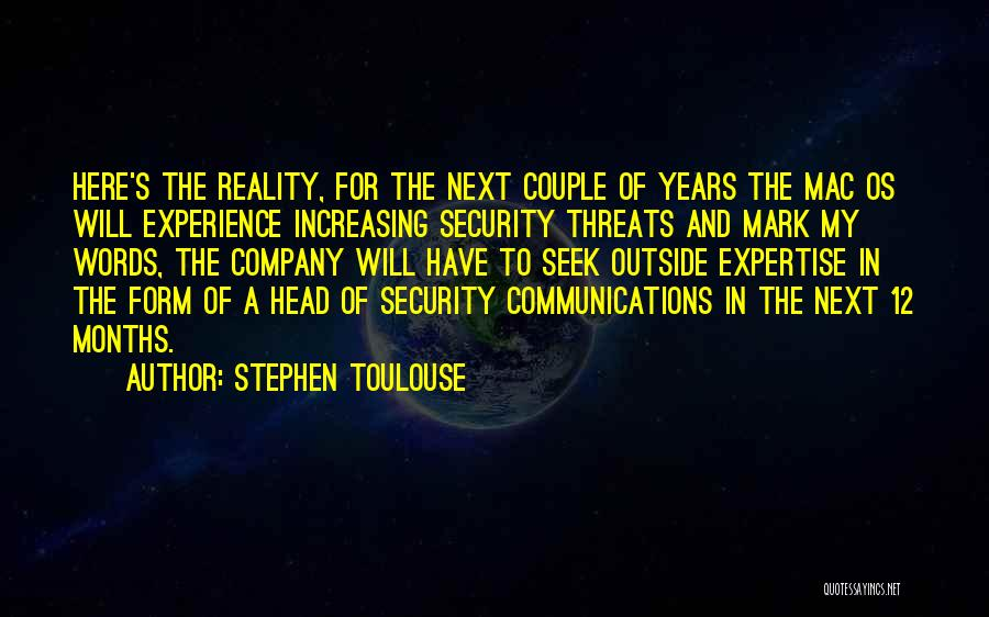 Experience Expertise Quotes By Stephen Toulouse