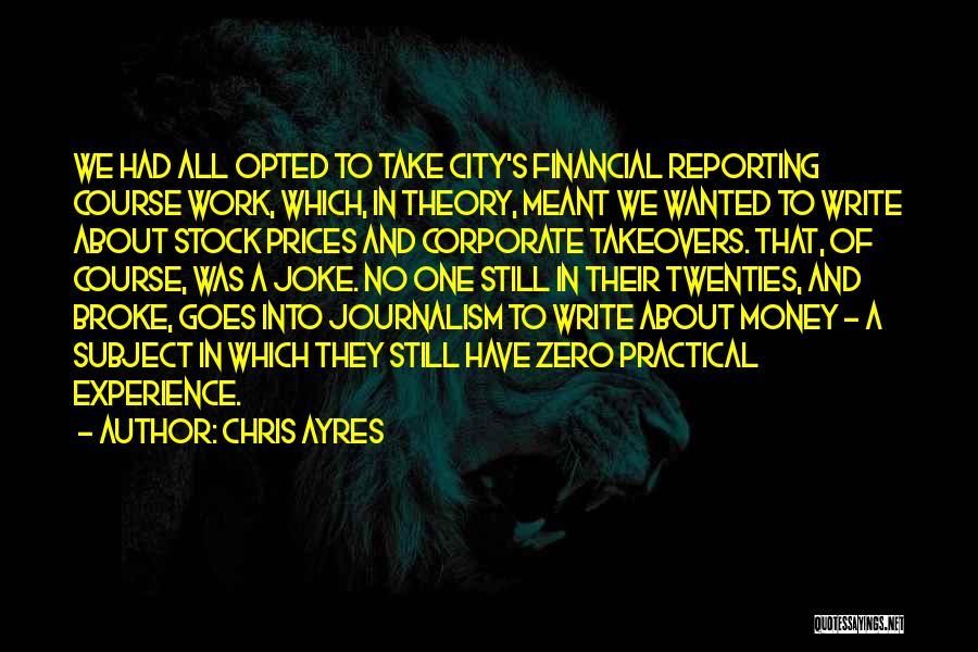 Experience In Business Quotes By Chris Ayres