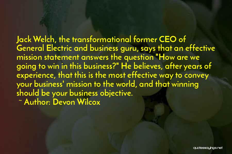 Experience In Business Quotes By Devon Wilcox
