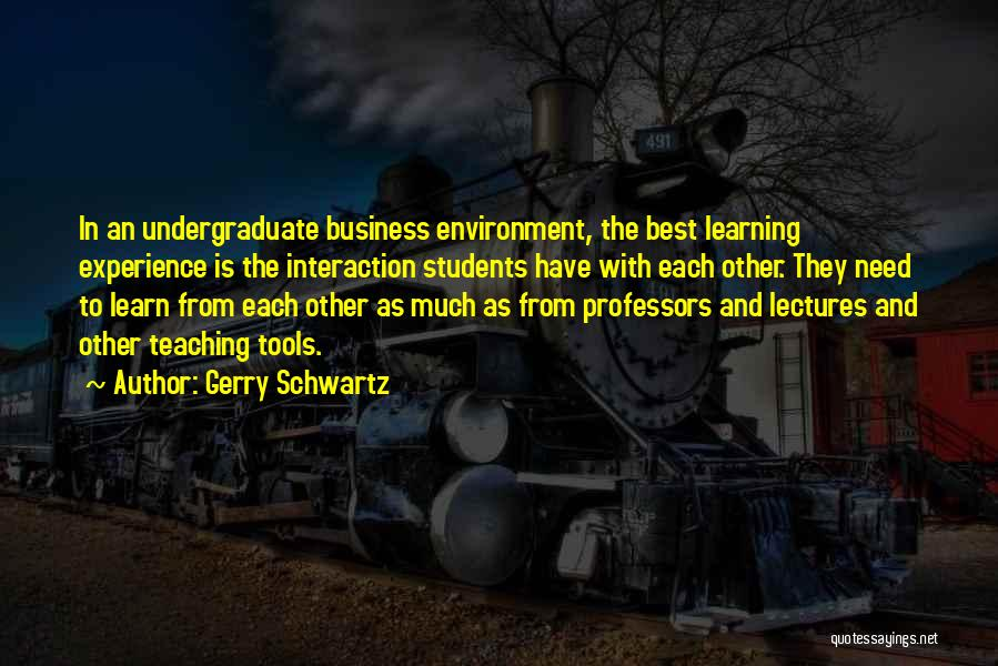 Experience In Business Quotes By Gerry Schwartz