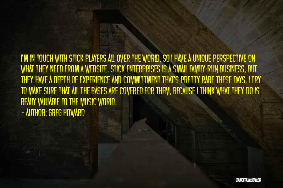 Experience In Business Quotes By Greg Howard