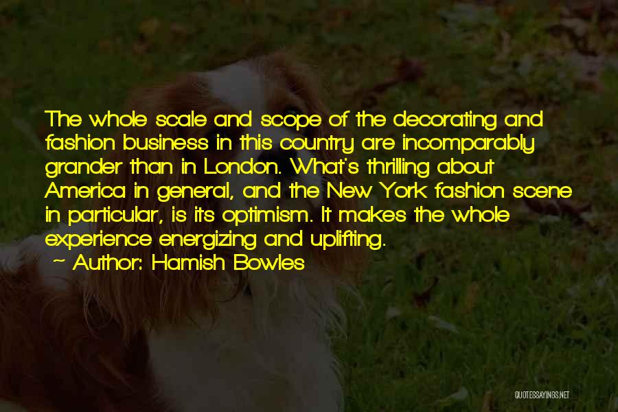 Experience In Business Quotes By Hamish Bowles