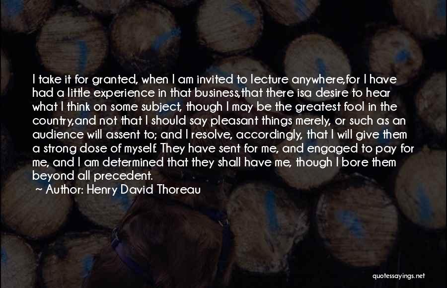 Experience In Business Quotes By Henry David Thoreau