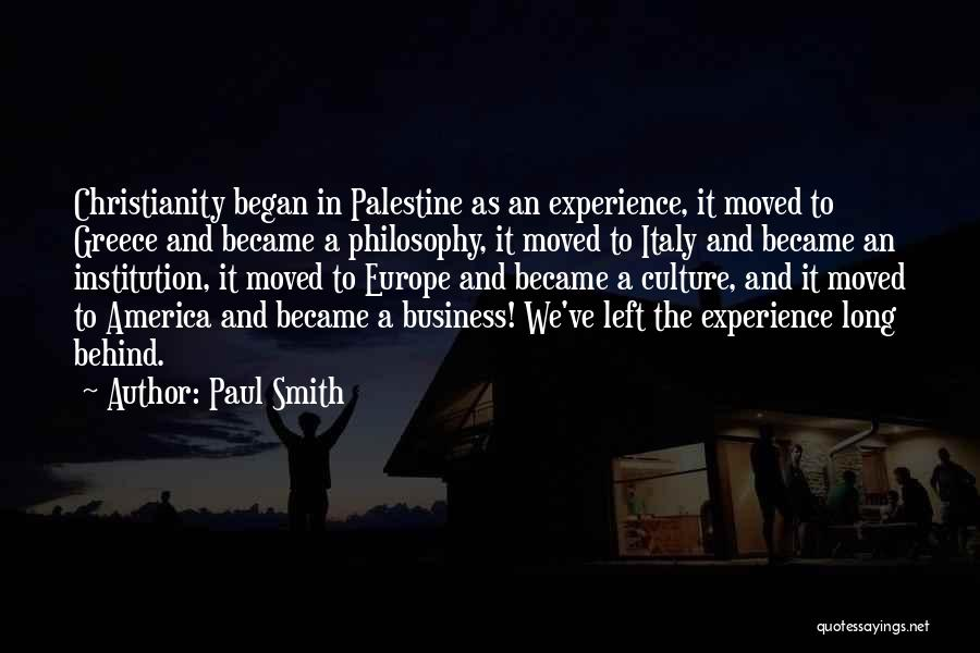 Experience In Business Quotes By Paul Smith