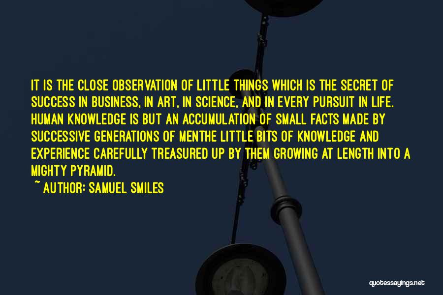 Experience In Business Quotes By Samuel Smiles