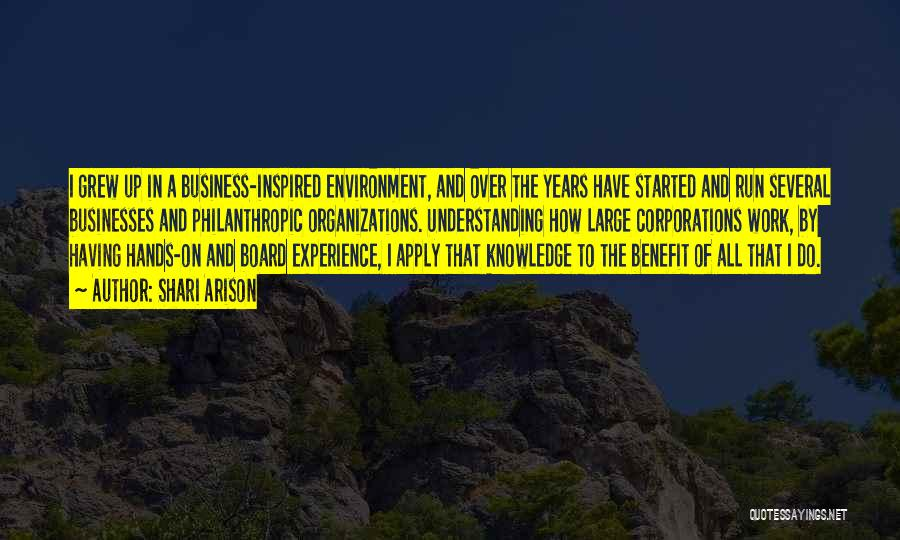 Experience In Business Quotes By Shari Arison