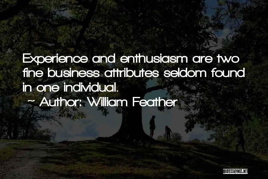 Experience In Business Quotes By William Feather