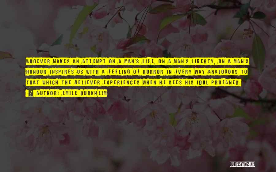 Experiences In Life Quotes By Emile Durkheim