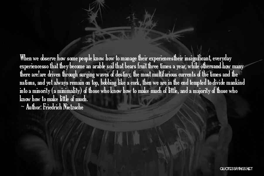 Experiences In Life Quotes By Friedrich Nietzsche