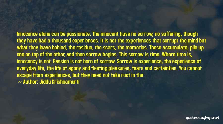 Experiences In Life Quotes By Jiddu Krishnamurti