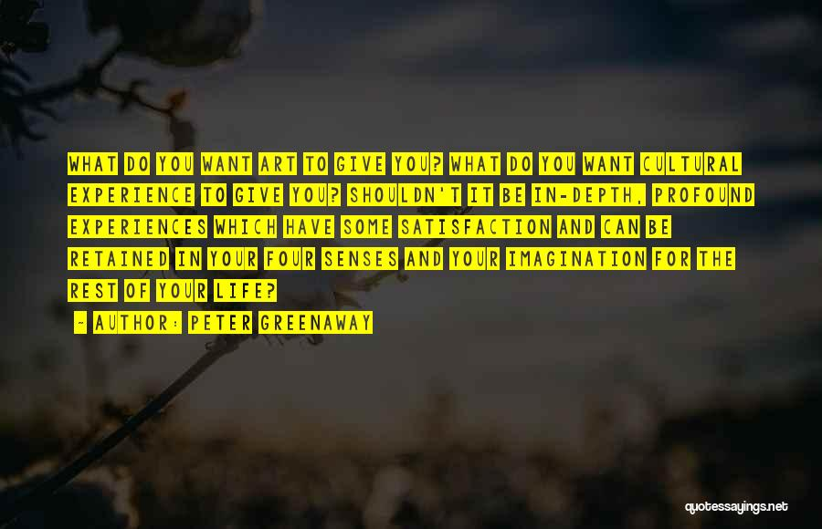 Experiences In Life Quotes By Peter Greenaway