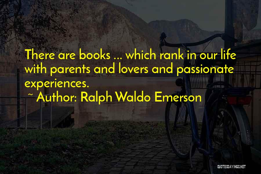 Experiences In Life Quotes By Ralph Waldo Emerson