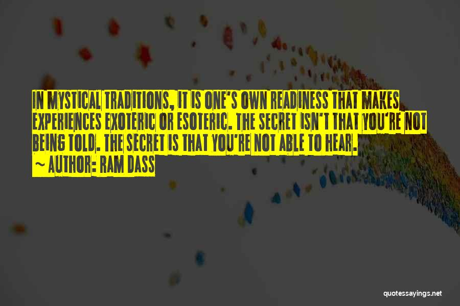 Experiences In Life Quotes By Ram Dass