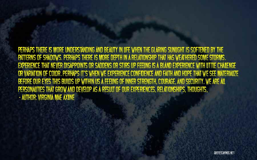 Experiences In Life Quotes By Virginia Mae Axline