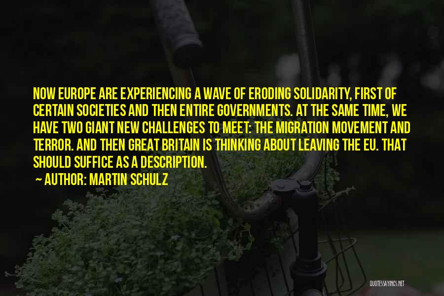 Experiencing New Things Quotes By Martin Schulz