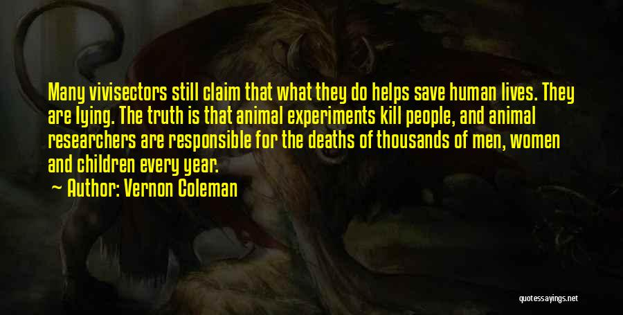 Experiments With Truth Quotes By Vernon Coleman