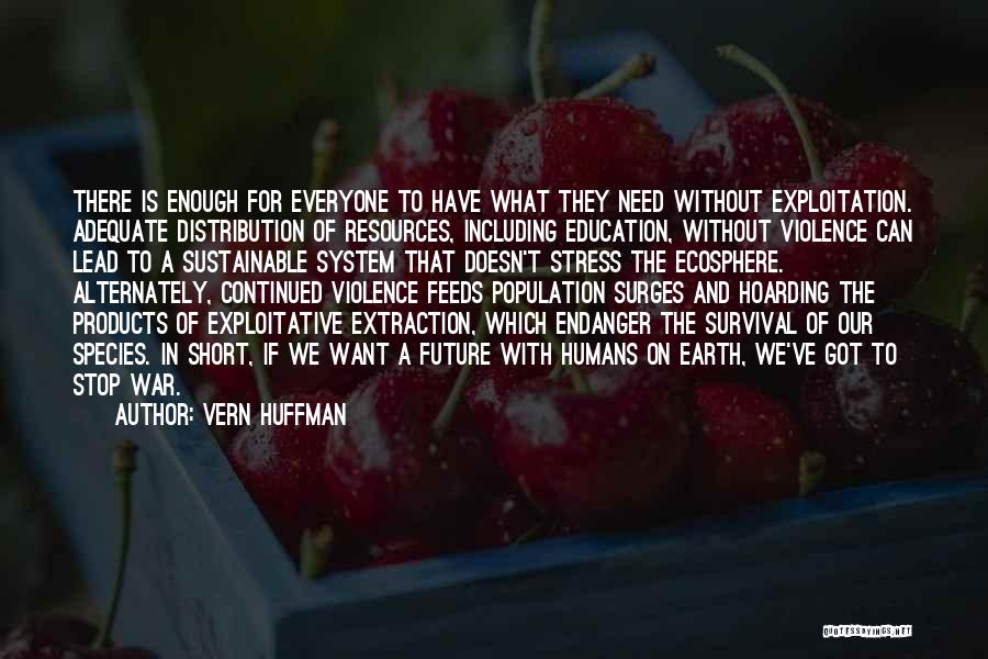 Exploitative Quotes By Vern Huffman