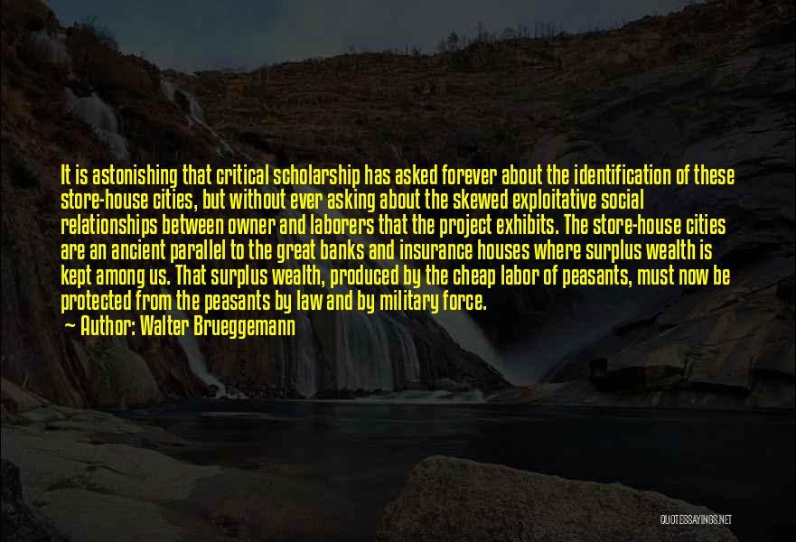 Exploitative Quotes By Walter Brueggemann