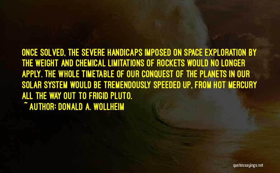 Exploration Of Space Quotes By Donald A. Wollheim