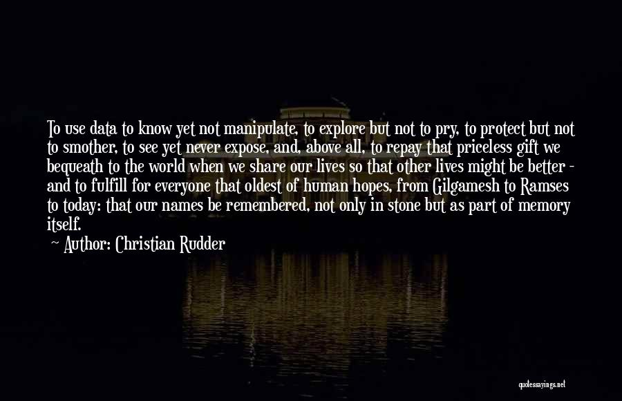 Explore The World Quotes By Christian Rudder