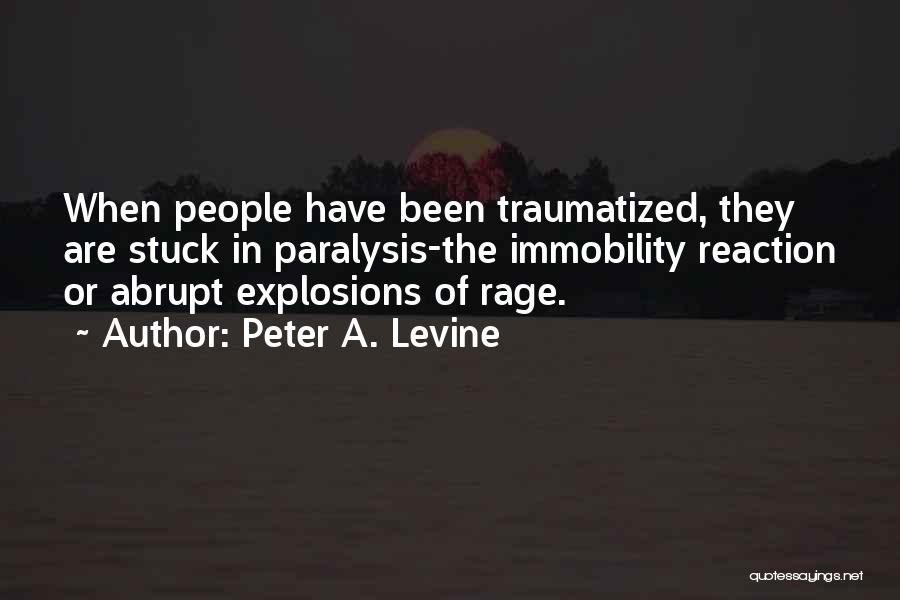 Explosions Quotes By Peter A. Levine
