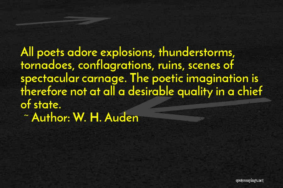 Explosions Quotes By W. H. Auden