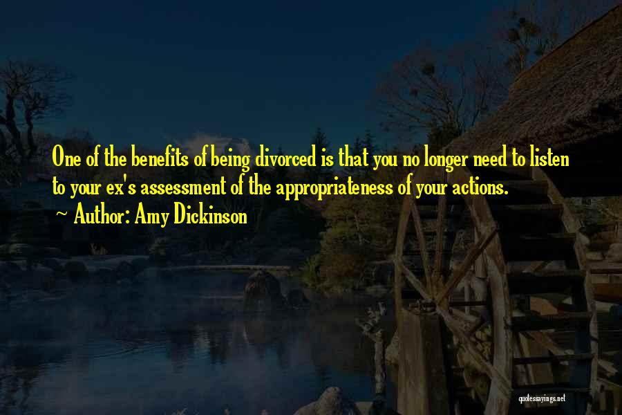 Ex's Quotes By Amy Dickinson