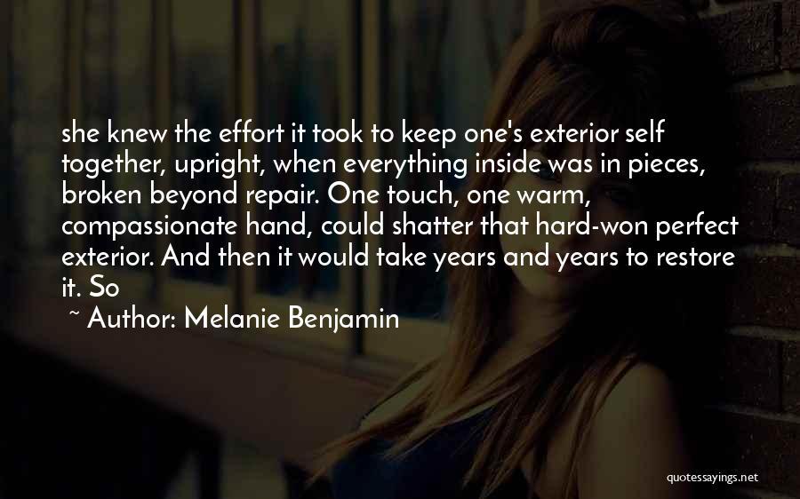 Exterior Quotes By Melanie Benjamin
