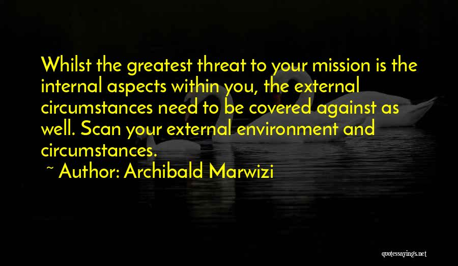 External Environment Quotes By Archibald Marwizi