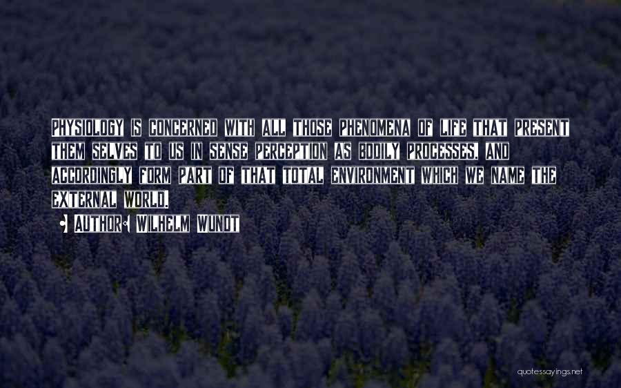 External Environment Quotes By Wilhelm Wundt