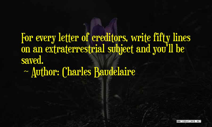 Extraterrestrial Quotes By Charles Baudelaire