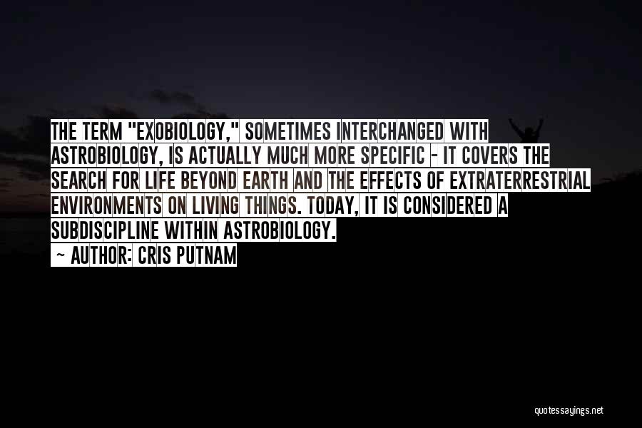 Extraterrestrial Quotes By Cris Putnam