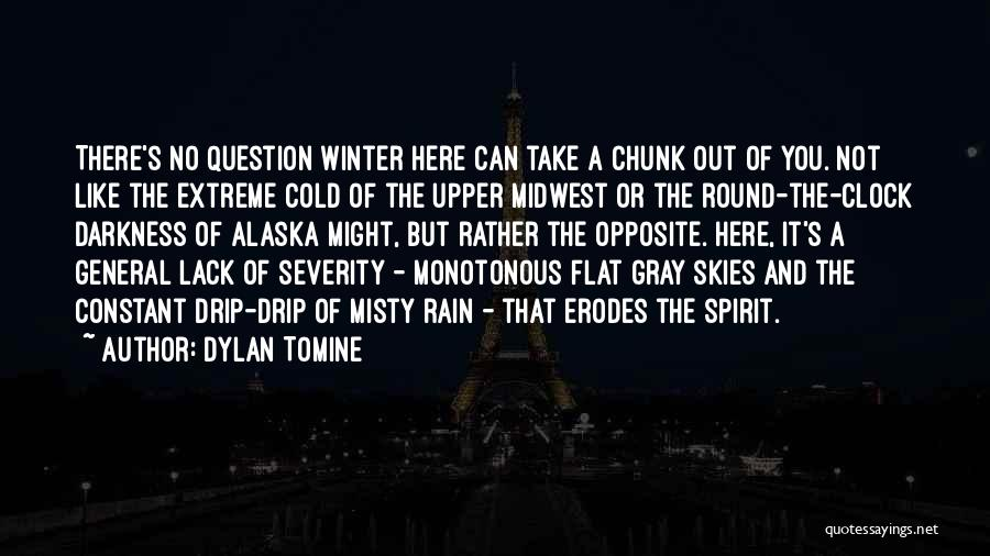 Extreme Cold Weather Quotes By Dylan Tomine