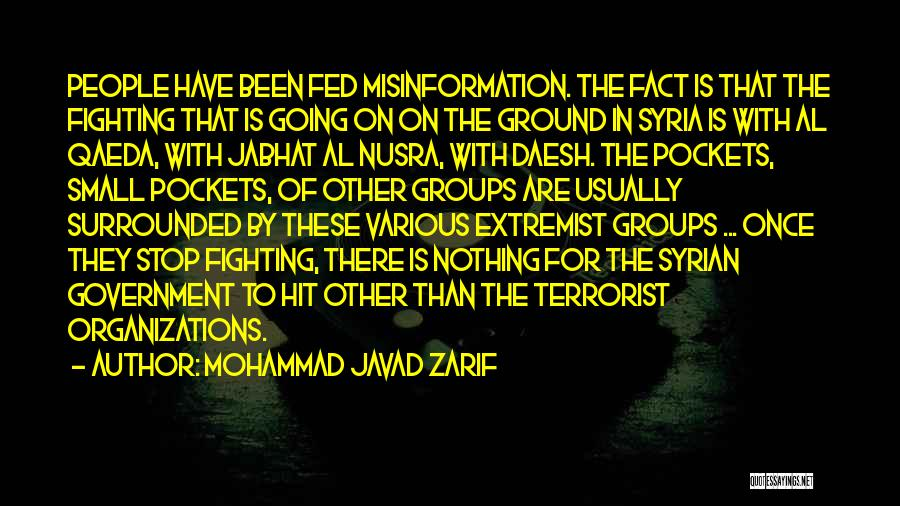 Extremist Groups Quotes By Mohammad Javad Zarif