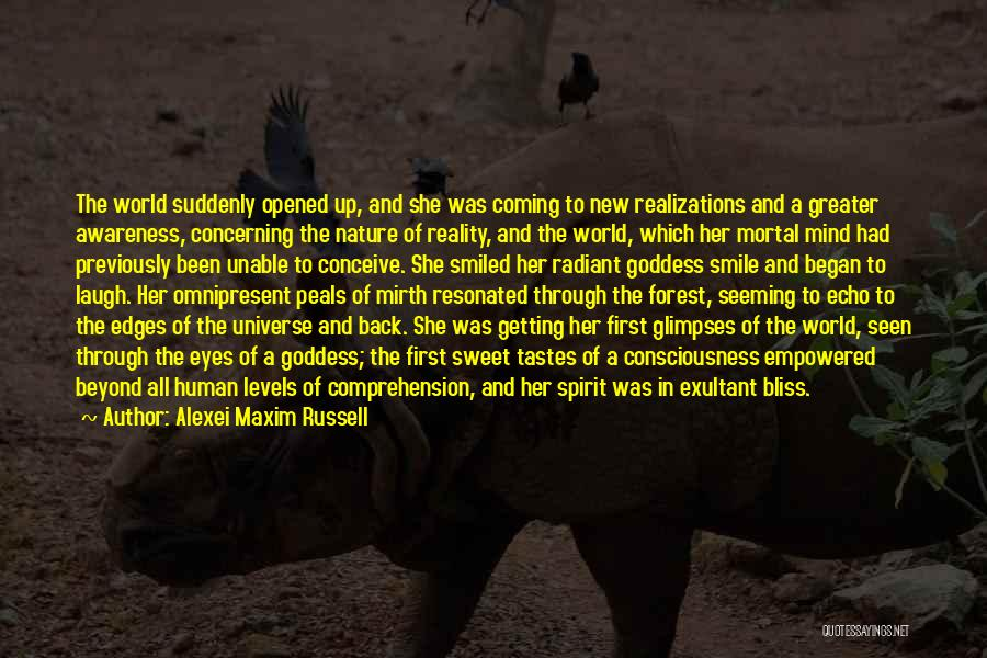 Exultant Quotes By Alexei Maxim Russell