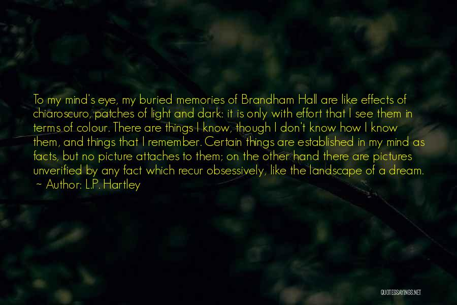 Eye Pictures Quotes By L.P. Hartley
