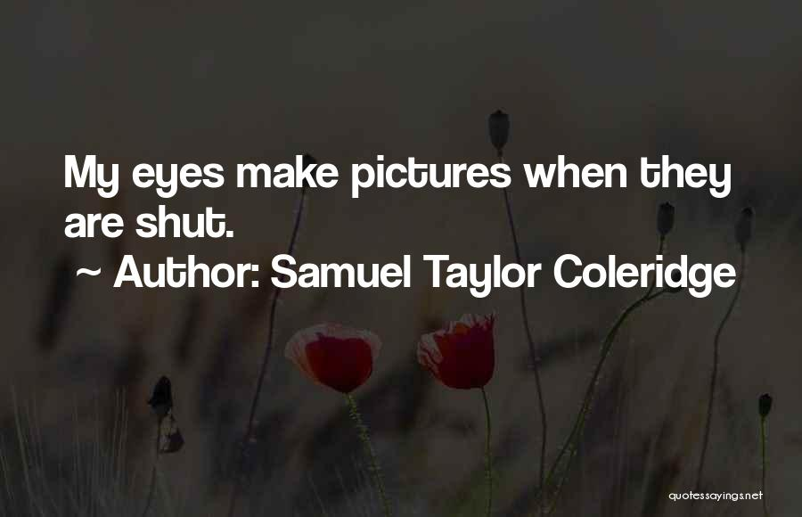 Eye Pictures Quotes By Samuel Taylor Coleridge