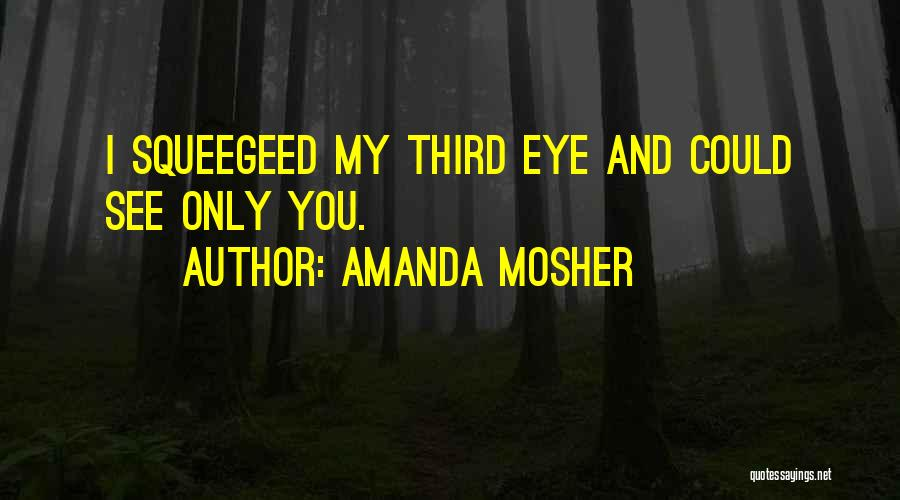 Eye Quotes By Amanda Mosher