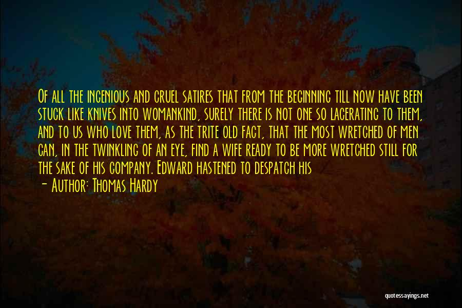 Eye Quotes By Thomas Hardy