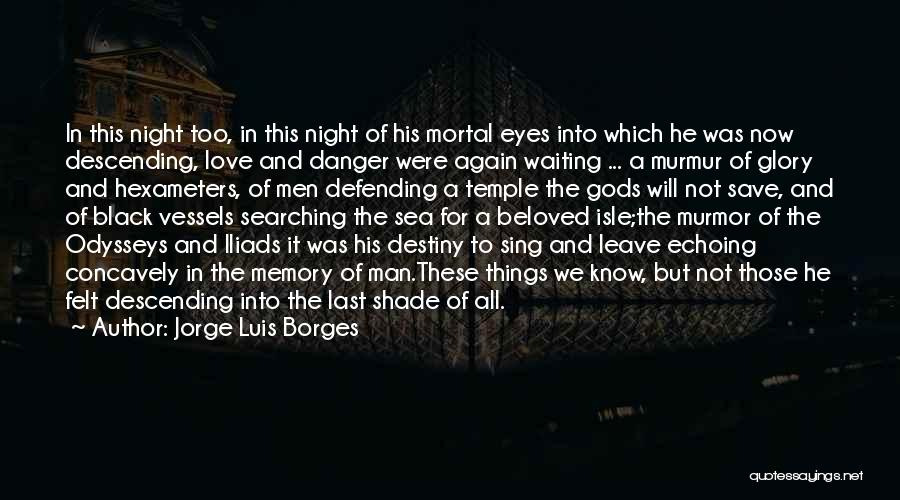 Eyes In Night Quotes By Jorge Luis Borges