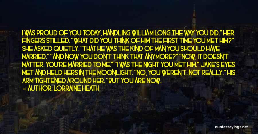 Eyes In Night Quotes By Lorraine Heath