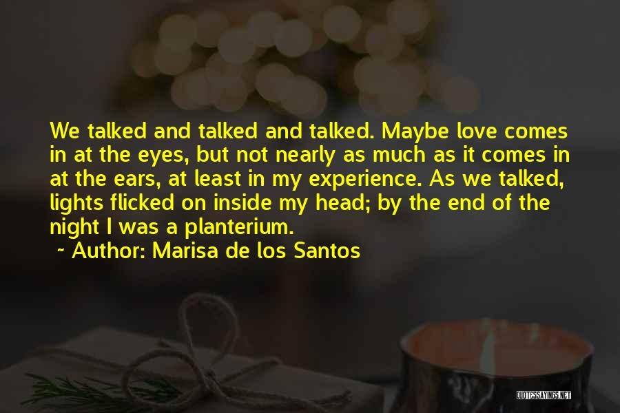 Eyes In Night Quotes By Marisa De Los Santos