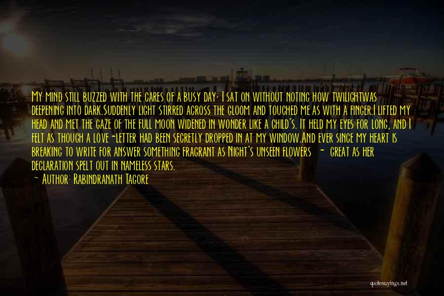 Eyes In Night Quotes By Rabindranath Tagore