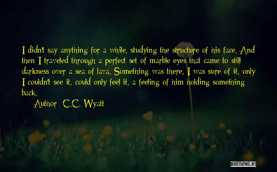 Eyes Say Something Quotes By C.C. Wyatt