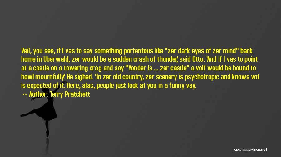 Eyes Say Something Quotes By Terry Pratchett