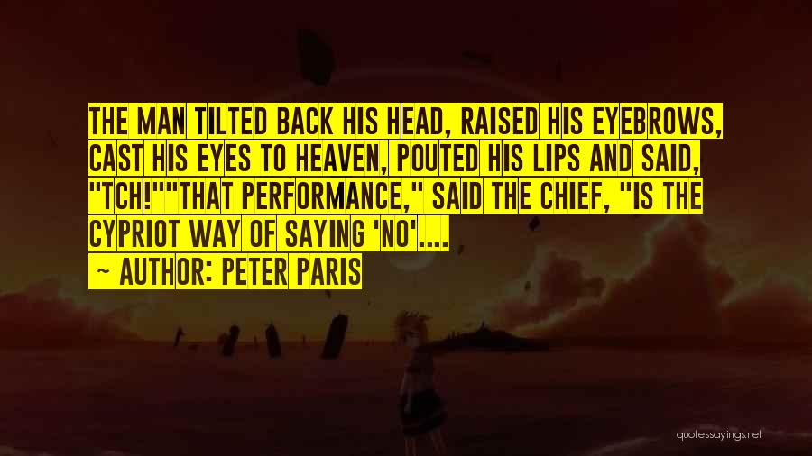 Eyes Saying Quotes By Peter Paris